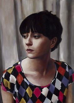 "Heidi Yardley, ""Self Portrait:Harlequin"". This self-portrait references the harlequin and the legacy of paintings of this enigmatic character, notably Picasso's At the Lapin Agile (Harlequin with glass) from Finalist Archibald Prize, Art Gallery NSW. Art Gallery, Australian Artists, Figure Painting, Portraiture, Archibald, Australian Painting, Portrait Painting, Portrait Art, Female Artists"