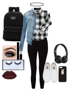 """""""Space is just a word made up by someone who's afraid to get too close."""" by kalliewallie06 ❤ liked on Polyvore featuring Miss Selfridge, Vans, LE3NO, Nasty Gal, Beats by Dr. Dre, ASAP, Huda Beauty and Gucci"""