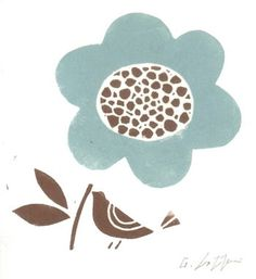 Handmade Mothers Day Card  Flower Gift Print by TheBluebirdGallery, £4,95