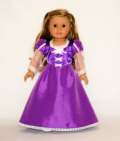 Disney Princess Rapunzel (Tangled) outfit for American Girl Doll
