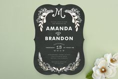 Chalkboard Wedding Invitations by Alethea and Ruth   Minted