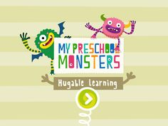MY PRESCHOOL MONSTERS (BANNER) - Mobile Game for preschool kids. Play with these funny monsters!! Available in the Kurio App Store.