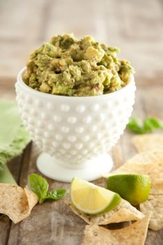 Spicy Basil Guacamole - I'm not a huge guacamole fan, but this recipe is excellent, and super easy!