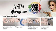 ASPA Spray-on – O esmalte em spray nacional   Sutileza Feminina