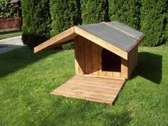 Log Cabin Dog House with Porch Whos in the dog house