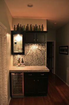 Dry Bar Idea   Minus The Bottles On Top