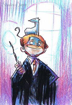 Ron Weasley mini sketch by Thomas Boatwright Comic Art
