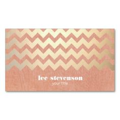 Custom business cards you design online background labels pinterest gold chevron pattern and peach linen look hip business cards this great business card design reheart Choice Image