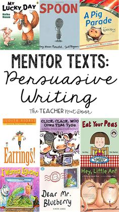 Opinion writing can be challenging for upper elementary students! This post has a step by step strategy for teaching persuasive writing. Using mentor texts to teach persuasive writing is one of the teaching tools. Writing Mentor Texts, Paragraph Writing, Writing Strategies, Narrative Writing, Opinion Writing, Persuasive Writing, Writing Rubrics, Informational Writing, Writing Process