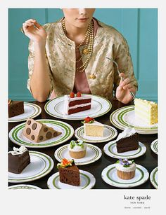 kate spade ad - This looks just like Wayne Thiebaud!