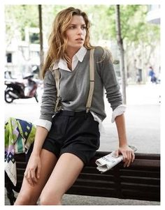 Short + Suspenders outfit