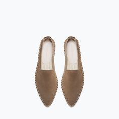 Image 4 of POINTED LEATHER ESPADRILLES from Zara