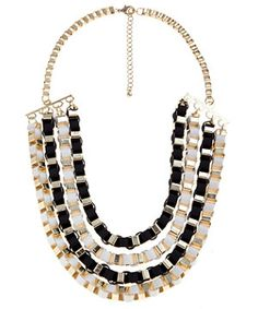 Gold Monochrome Tube Chain Necklace - New Look price: £7.99