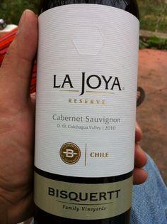 Viña @VBisquertt La Joya Reserve Cabernet Sauvignon 2010, Valle de Colchagua (gran vino! y eso q el CS no me gusta)