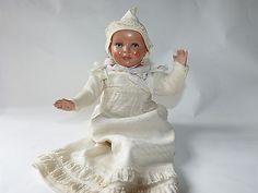 alte Baby Puppe Schildkröt Kaiserbaby um 1910 mit schöner alter Kleidung 20cm •…