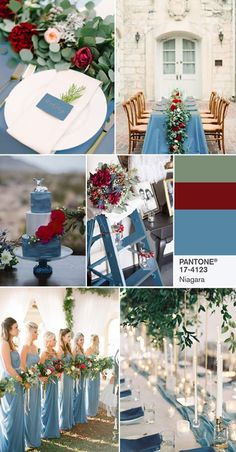 PANTONE 17-4123 Niagara  -  Comfortable and dependable, Niagara leads the PANTONE Fashion Color Report as the most prevalent color for spring 2017. Niagara is a classic denim-like blue that speaks to our desire for ease and relaxation. https://www.pinterest.com/pin/334321972322514428/""