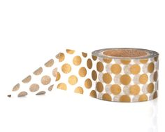 Large Gold Polka Dots Washi Tape  30mm Wide by ThatWashiTapeGirl