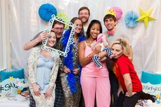 Corning friends in the photo booth, 6th Annual Pajama Party