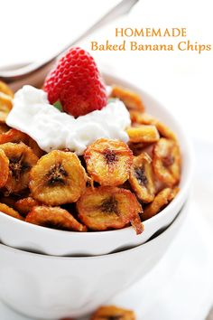 Homemade Baked Banana Chips Recipe | Diethood