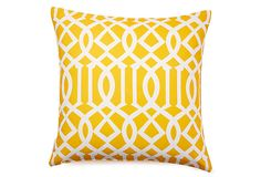 Variance 20x20 Outdoor Pillow, Yellow on OneKingsLane.com $55