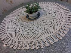Canto do Pano Artesanato: Toalha de mesa crochê com gráfico
