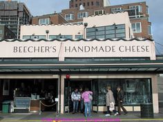 Beecher's Handmade Cheese is an artisan cheesemaker and retail shop with locations in Pike Place Market, Seattle, WA and New York City's Flatiron District. The company was founded by Kurt Beecher Dammeier in 2003. Unlike most artisan cheese makers, Beecher's mainly uses pasteurized milk and operates a high-volume modern production facility, using their own herds of dairy cattle and farms to ensure control of the cheese products from beginning to end.