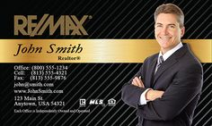 Customizible Elegant Remax business card s for Re/max realtors for $0.04 per card + FREE shipping from www.printifycards.com #printifycards