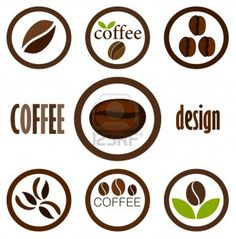 Coffee bean symbols for design. Vector icons Stock Photo - 12935182