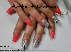 #nailart #nails #unhas decoradas #gel #zebra