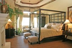 french island colonial interior decor | 3,254 british colonial bedroom Home Design Photos