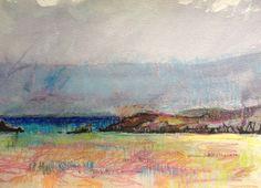 Sanna Bay. 3  A4 Watercolour and Pastel.
