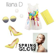 """Spring glow style"" by drakouiliana on Polyvore featuring Christian Louboutin, Henri Bendel, Kendra Scott and Matthew Williamson"