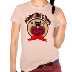Valentine's Day T-Shirt by BATKEI #zazzle #猫 #cat #tshirts #clothing #Tシャツ