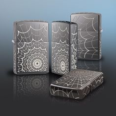 Get caught in this lighter. This Black Ice® windproof lighter features an intricate spider web design on all the surfaces of this lighter.
