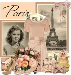 """""""Shirley Temple Paris"""" by countrycousin ❤ liked on Polyvore"""