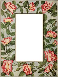 Wings of Whimsy - 1918 Dingee Conard Rose Frame - PNG (transparent background)