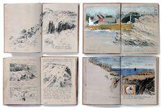 the coast . Albrecht Rissler's Drawing Landscape