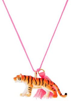 Gunner & Lux Miller The Tiger Charm Necklace at Barneys New York