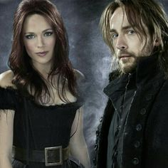 "Katia Winter as Katrina Crane and Tom Mison as Ichabod Crane from the TV show ""Spooky Hollow."" Photo credit: Fox Network."
