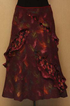 Still Life With Eggplant / Felted Clothing / Skirt by LybaV, $300.00