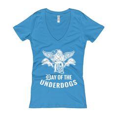 Detroit Underdog Women's V-Neck T-shirt (5 colors)