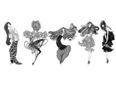 Black and White Fashion Illustrations by Laura Laine | ADONE Magazine