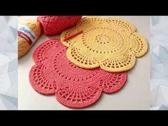Natural Jute Twine Rope Cord, Non-Polished Gift Wrap, Packaging, eco-friendly hemp yarn 100 g 55 Crochet Doily Rug, Crochet Placemats, Crochet Dollies, Crochet Triangle, Crochet Home, Filet Crochet, Diy Crochet, Crochet Flowers, Knitting Yarn