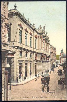 Rio de Janeiro - A Bolsa - Cartão Postal antigo original, nº D 13, editor não mencionado, não circulado.