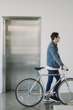 Musicbed Office in Fort Worth Texas bicycle elevator