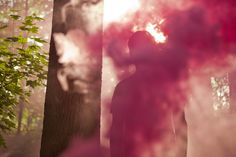 These beautiful photos with colorful smoke are from photographer and designer Carson Davis Brown. Just enjoy them:-)