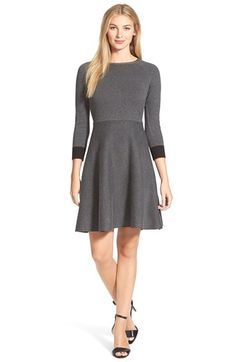 Vince Camuto Fit & Flare Sweater Dress available at #Nordstrom