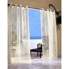 These sheer grommet-top window curtain panels bring the style and comfort of your living room to your favorite outdoor spaces. Sheer Curtain Panels, Sheer Drapes, Lace Curtains, Grommet Curtains, Window Curtains, Outdoor Spaces, Indoor Outdoor, Us Beach Vacations, Best Blinds