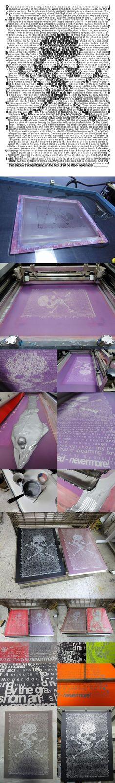 RAVEN silkscreen limited print by tind , via Behance