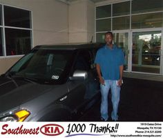 #HappyAnniversary to Paula Sanders on your 2013 #Kia #Soul from Russell Paulov at Southwest Kia Mesquite!